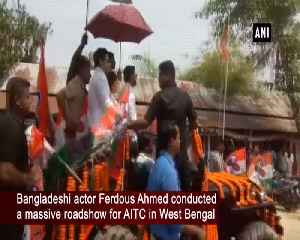 Bangladeshi actor Ferdous Ahmed campaign for Trinamool Congress opposition opposes [Video]