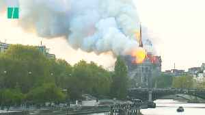 Notre Dame Burns In Paris [Video]