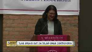 Tlaib speaks out on Trump-Omar controversy [Video]