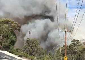 Helicopter Flies Over Mount Clear Bushfire [Video]
