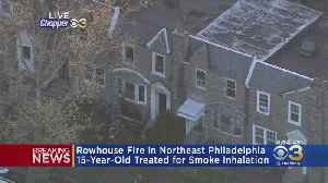 News video: Fire Breaks Out At Row House In Northeast Philadelphia