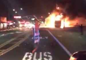 Bus and Truck Set Ablaze as Illegal Stunt Show Descends Into Mayhem [Video]