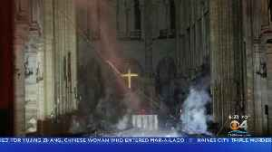 Iconic Cross Inside Notre Dame Cathedral Still Standing