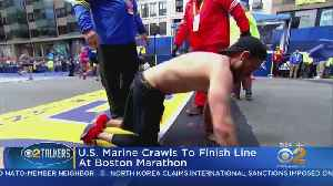Man Crawls To Finish At Boston Marathon [Video]