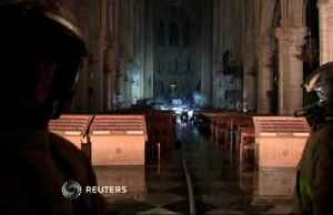 French TV shows Notre-Dame interior after spire collapse [Video]