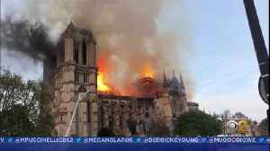 News video: Paris Firefighters Extinguish Blaze At Notre Dame Cathedral