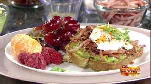 An Easy Way to Ham Up Avocado Toast [Video]