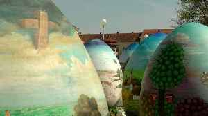 Watch: Giant handpainted Easter eggs unveiled in Croatian town [Video]