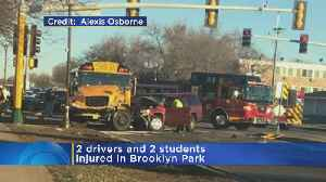 4 Recovering After SUV Crashes Into School Bus [Video]