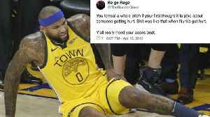 Serious DeMarcus Cousins Quad Injury Leads TO MAJOR Twitter FIGHT! [Video]