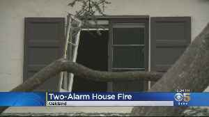 Oakland Home Damaged In 2-Alarm Fire [Video]