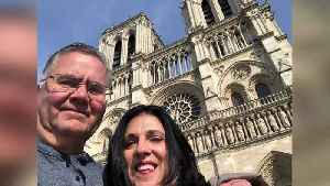 News video: Local couple toured Notre Dame Cathedral minutes before devastating fire