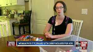 Sick woman inspiring sick children with care packages [Video]