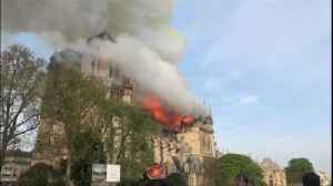 News video: VIDEO Fire ravages Notre Dame cathedral