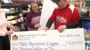 Riley gas station that sold winning lottery gives their lottery prize to three local organizations [Video]