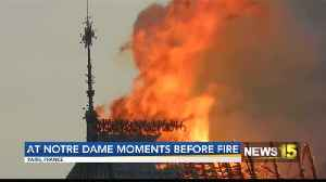 News video: Notre Dame Moments Before Fire
