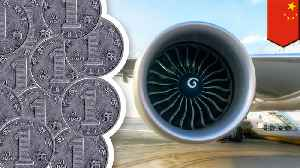 Chinese man throws coins at airplane engine for luck [Video]
