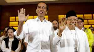 News video: Indonesia President Widodo Leading In Early Vote Count