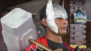 Superheroes step in to help protest Indonesia polling station as voting gets underway [Video]