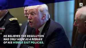 Donald Trump Vetoes Yemen War Resolution [Video]