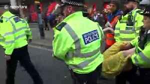 UK police arrest climate change protesters in Oxford Circus, London [Video]