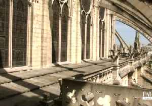 Historian Showcases Wooden Framework Supporting Notre Dame Cathedral (File) [Video]