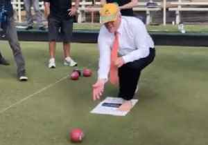 Prime Minister Scott Morrison Impresses Press Pool With Lawn-Bowling Skills [Video]