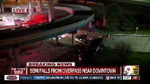FD: Semi falls from I-471 overpass onto Columbia Parkway [Video]