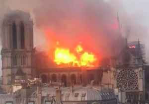 Fire Rips Through Iconic Notre Dame Cathedral in Paris [Video]