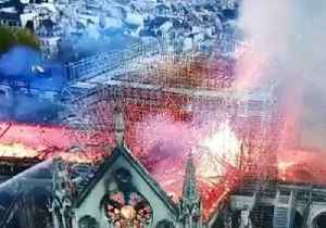 News video: Firefighters Respond to Flames Engulfing Paris' Notre Dame Cathedral