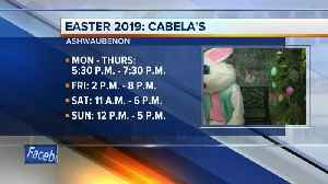 The Easter Bunny is visiting Cabela's all week [Video]