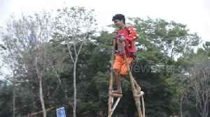 Bizarre race on stilts reaches new heights at hill tribe sports day in the Philippines [Video]