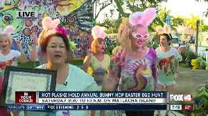 Hot Flashz hold eighth annual bunny hop easter egg hunt for charity - 7:30am live report [Video]