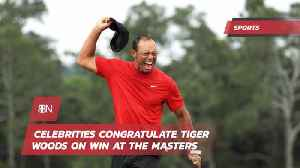 News video: Tiger Woods Is Cheered On Social Media By Mega Stars