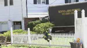 Moving Truck Slams Into Rockland Home [Video]