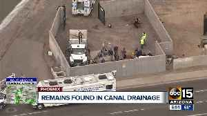 Remains found in canal drainage [Video]