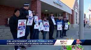 Joe Biden to rally with striking grocery store workers [Video]