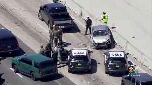 High-Speed Chase Touches 3 Counties, Ends With Possible Robbery Suspect In Custody [Video]