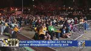 Pens Fans Watching Game On Big Screen Disappointed In Early Exit [Video]