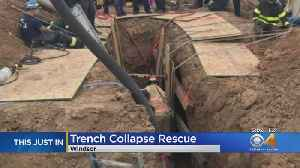 Trench Collapse: Crews Work For Hours To Rescue Trapped Workers [Video]