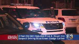 Police Negotiating With Man Who Abducted Ex-Girlfriend's 2-Year-Old Girl In East Mount Airy, Police Say [Video]