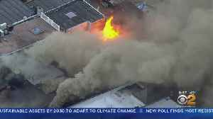 FDNY Battles Commercial Fire In Brooklyn [Video]