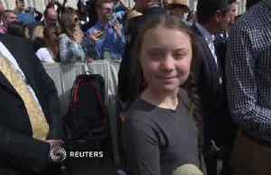 Teenage environmental activist Greta Thunberg speaks with Pope Francis [Video]