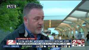 American Airlines workers protest outside Tulsa International Airport [Video]