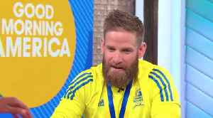 Tallmadge veteran who crawled across the Boston Marathon finish line appears on GMA [Video]