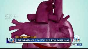 What's the importance of the aorta and screenings? [Video]