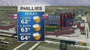 News video: Mobile Weather Watcher Tracking Forecast For Phillies Game At Citizens Bank Park
