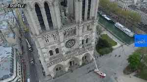 Notre Dame fire: Drone footage reveals devastating damage to Paris cathedral [Video]