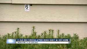 Child recovering after being shot in her home [Video]