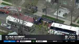 MTA Bus And SUV Collide On Staten Island [Video]